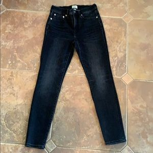 JCrew toothpick high rise washed black jeans